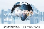 world finance moeny exchange  | Shutterstock . vector #1174007641