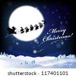 christmas card. | Shutterstock . vector #117401101