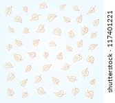orange seamless leaves pattern... | Shutterstock .eps vector #117401221
