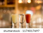 tequila shots mexican flag on... | Shutterstock . vector #1174017697