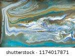 gold marbling texture design.... | Shutterstock . vector #1174017871