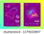 electronic music party poster... | Shutterstock .eps vector #1174023847