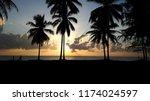 the beach sunset at sa kaeo ...   Shutterstock . vector #1174024597
