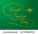paper world tourism day tourism ... | Shutterstock .eps vector #1174026931