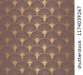 art deco pattern. seamless... | Shutterstock .eps vector #1174039267