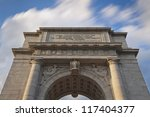 Memorial Arch In Valley Forge...