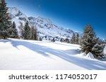 stunning winter sunrise over...   Shutterstock . vector #1174052017