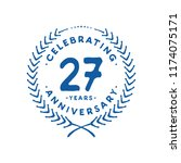 27 years design template. 27 th ... | Shutterstock .eps vector #1174075171