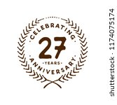 27 years design template. 27 th ... | Shutterstock .eps vector #1174075174