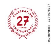 27 years design template. 27 th ... | Shutterstock .eps vector #1174075177
