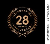 28 years design template. 28th... | Shutterstock .eps vector #1174075264