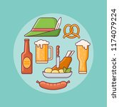 set of oktoberfest elements.... | Shutterstock .eps vector #1174079224