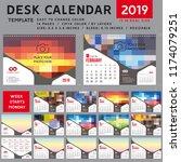 desk calendar 2019  desktop...   Shutterstock .eps vector #1174079251