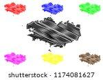 region of brittany  france ... | Shutterstock .eps vector #1174081627