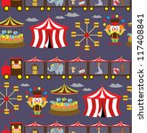 seamless circus background.... | Shutterstock .eps vector #117408841