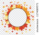 autumn  frame with falling ... | Shutterstock .eps vector #1174089571