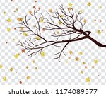 autumn  frame with falling ... | Shutterstock .eps vector #1174089577