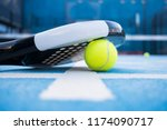 racket and padel balls on the... | Shutterstock . vector #1174090717