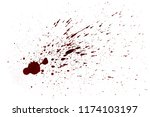 blood drops  isolated on white... | Shutterstock . vector #1174103197