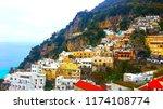 winter view of positano italy   Shutterstock . vector #1174108774