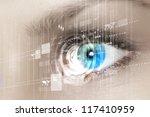 eye viewing digital information ... | Shutterstock . vector #117410959
