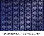 blue velvet background... | Shutterstock .eps vector #1174116754