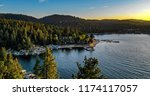 aerial view of lake arrowhead... | Shutterstock . vector #1174117057