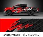 truck decal wrap design vector. ... | Shutterstock .eps vector #1174127917