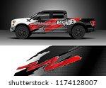 truck decal wrap design vector. ... | Shutterstock .eps vector #1174128007