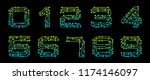 set numbers made in circuit...   Shutterstock .eps vector #1174146097