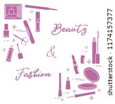 decorative cosmetics.... | Shutterstock .eps vector #1174157377