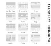 vector set of simple flat...   Shutterstock .eps vector #1174157551