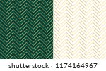 Stock vector chevron zig zag emerald dark green seamless pattern with golden lines cute ivory background in 1174164967