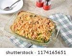 home cooked green bean... | Shutterstock . vector #1174165651