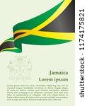flag of jamaica  commonwealth... | Shutterstock .eps vector #1174175821