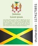 flag of jamaica  commonwealth... | Shutterstock .eps vector #1174175851
