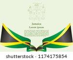flag of jamaica  commonwealth... | Shutterstock .eps vector #1174175854