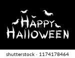 happy halloween. the... | Shutterstock .eps vector #1174178464