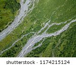 aerial view from the drone. the ... | Shutterstock . vector #1174215124