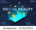 augmented reality concept... | Shutterstock .eps vector #1174215511