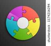 puzzle five piece business...   Shutterstock . vector #1174216294