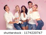 group of beautiful young people ... | Shutterstock . vector #1174220767