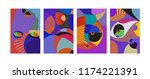 vector abstract colorful... | Shutterstock .eps vector #1174221391