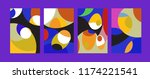 vector abstract colorful...   Shutterstock .eps vector #1174221541
