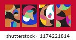 vector abstract colorful...   Shutterstock .eps vector #1174221814