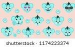 social reactions. different... | Shutterstock .eps vector #1174223374