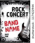rock concert poster | Shutterstock .eps vector #117422944