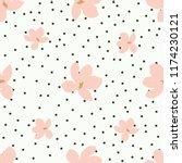 floral magnolia small cute... | Shutterstock .eps vector #1174230121