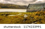 scotland landscape. a boathouse ...   Shutterstock . vector #1174233991