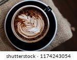 backgrounds of latte coffee. | Shutterstock . vector #1174243054